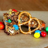 Fun and Tasty No-bake M&M Peanut  Butter Pretzel Granola Bars