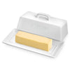 Butter Dish with Lid,  White