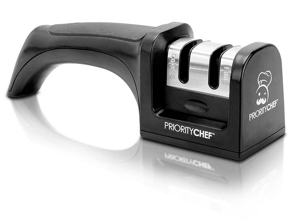 Knife Sharpener - 2 Stage Knife Sharpening System - PriorityChef