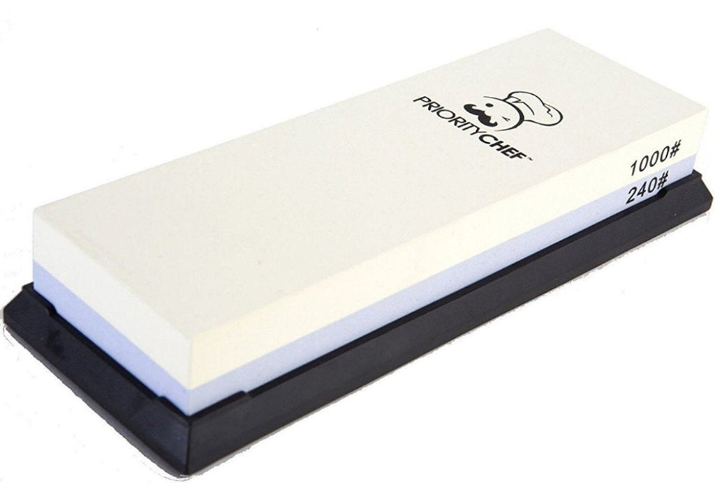 Whetstone, Knife Sharpener Stone, 240/1000 grit - PriorityChef