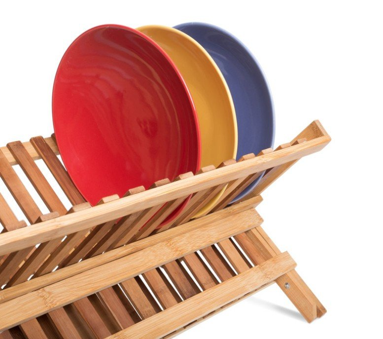 Dish Rack, Bamboo, Stable Base - PriorityChef
