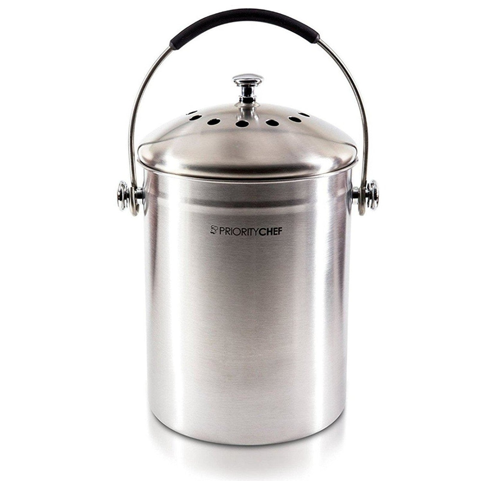 Compost Bin, Stainless Steel With Silicone Handles and Odor ...