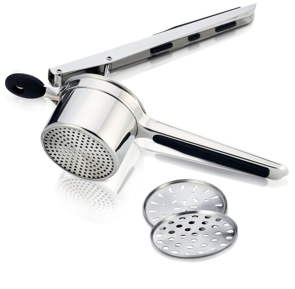 Stainless Potato Ricer With 3 Interchangeable Discs - PriorityChef