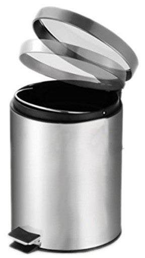 trash can, stainless steel | priority chef