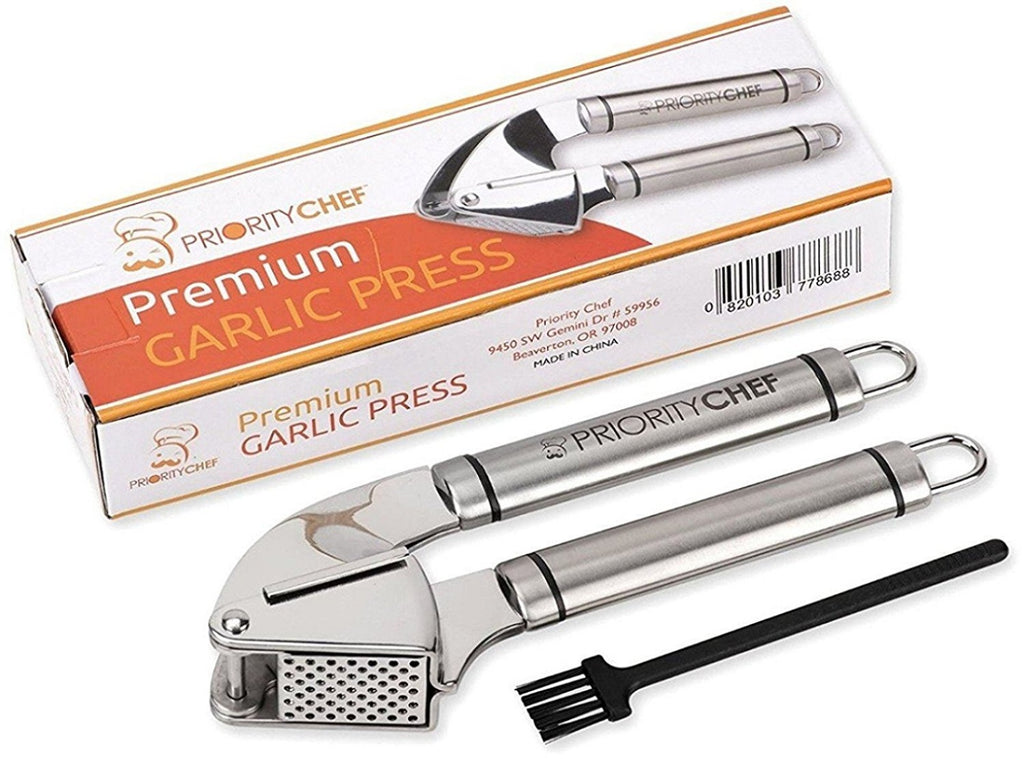 Garlic Press and Mincer, 18/10 Stainless Steel