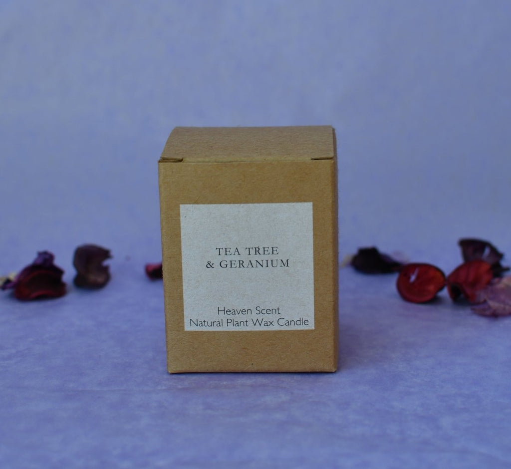 Heaven Scent 'Tea Tree & Geranium' Natural Candle - Penny Brohn Shop