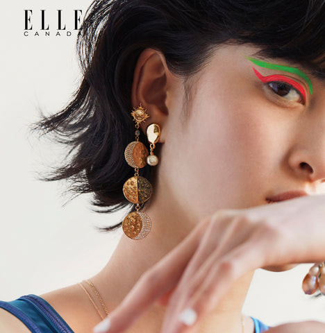 Supreme Moon Phase Earring in Elle Canada (March 2019)