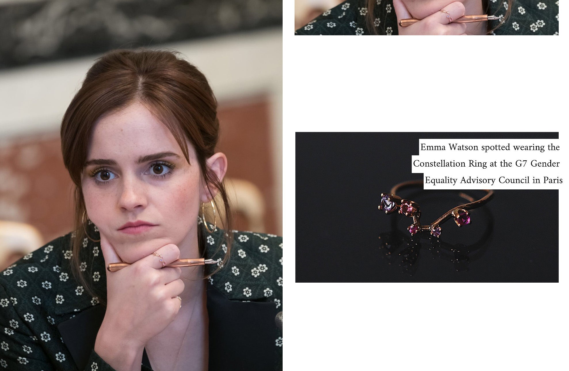 Emma Watson spotted wearing our Constellation Ring