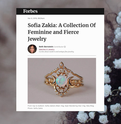 "<em>Forbes Interview</em> ""Sofia Zakia: A Collection Of Feminine & Fierce Jewelry"""