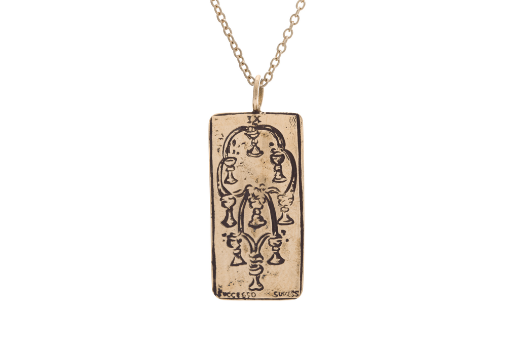 Nine of Cups Tarot Card Necklace