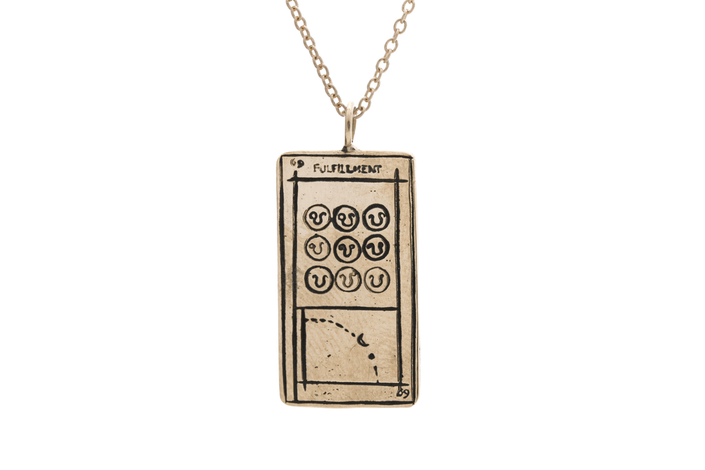 Fulfillment Tarot Card Necklace