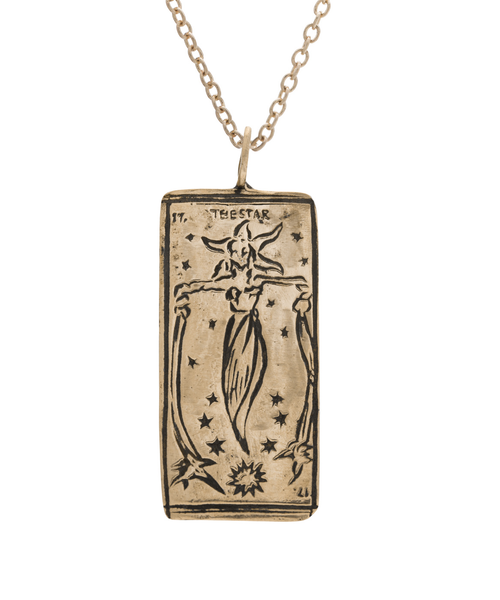 The Star Tarot Card Necklace