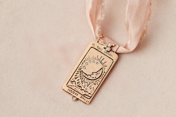 Supreme The Moon Tarot Card Necklace