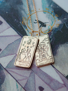 The Star II. Tarot Card Necklace