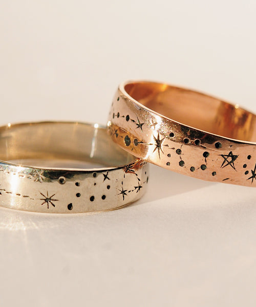 Narrow Written in the Stars Ring