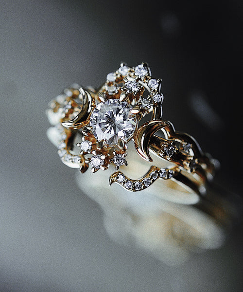 Diamond Wandering Star Ring