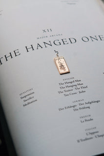 The Hanged One Tarot Card Necklace
