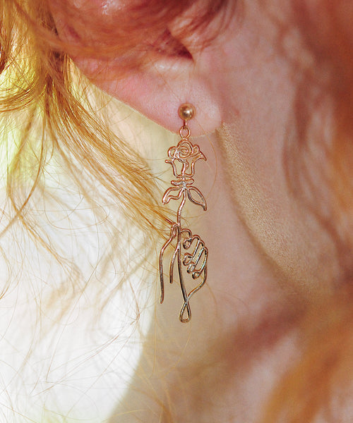 Picasso's Roses Earrings