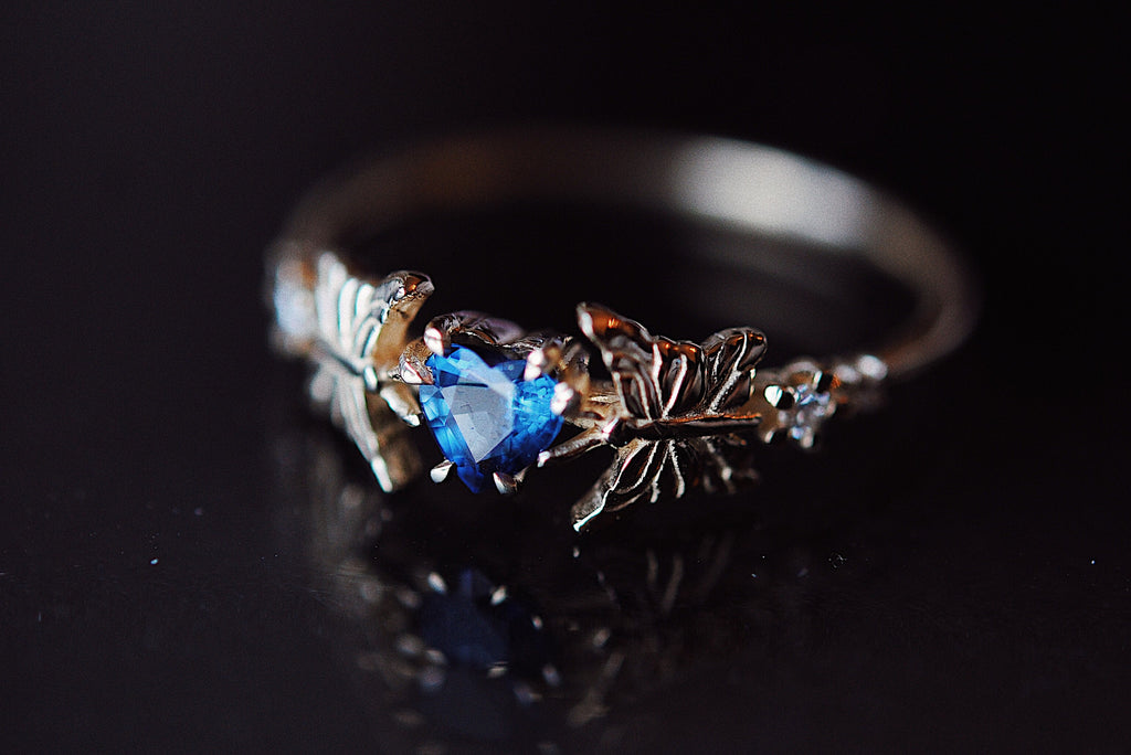 Moonlight Butterfly Ring