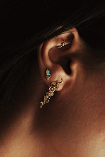 West Medusa Relic Earring