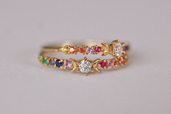 Rainbow Stardust Ring