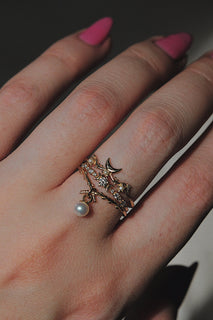 Pearl Woodland Ring