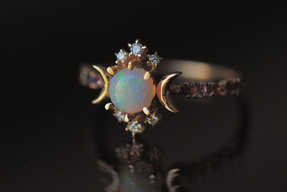 Rainbow Wandering Star Ring