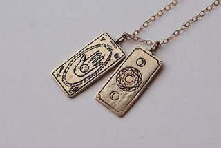 The World Tarot Card Necklace