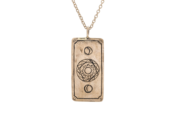 Diamond Travel Tarot Card Necklace