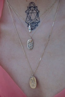 Engraved Celestial Rose Necklace