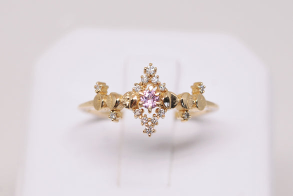Pink Sapphire Cosmic Witch Ring