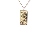 The Hermit Tarot Card Necklace