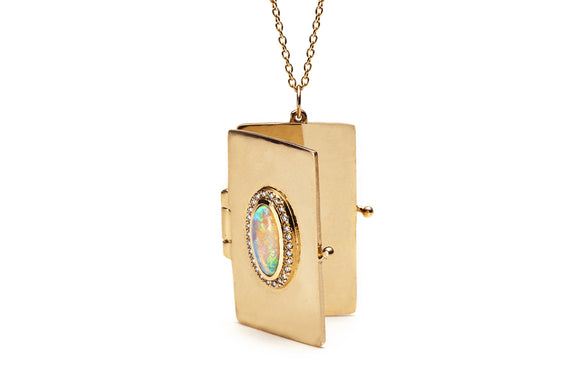 Cathedral Book Locket