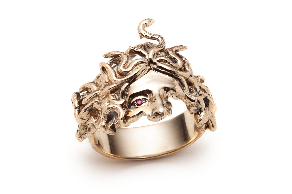 Ruby Medusa's Veil Ring