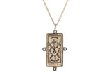 Diamond Three of Swords Tarot Card Necklace