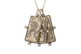 Wheel of Fortune Tarot Card Necklace