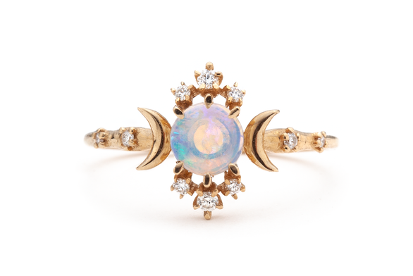 Opal Wandering Star Ring