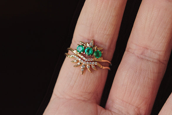 Emerald Theophany Ring