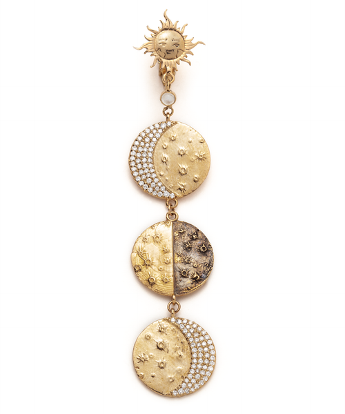 Supreme Moon Phase Earring