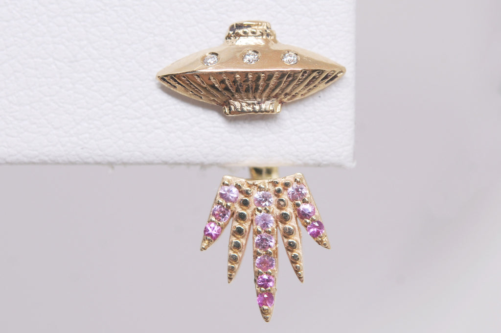 Ombre Tender Abduction UFO Earring