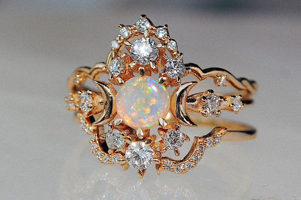 Opal Wandering Cosmos Ring