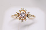 Morganite Wandering Star Ring