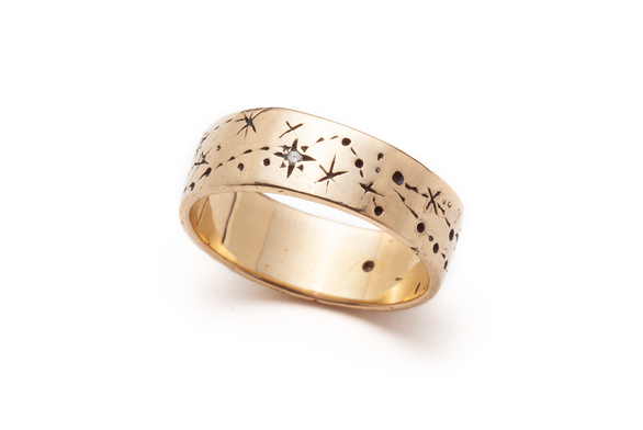 Wide Written in the Stars Ring