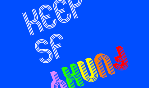 KEEP SF FUNKY - organic cotton - PACIFIC