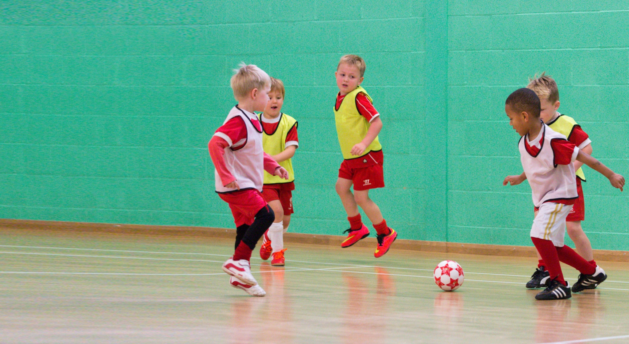 Toddler football coaching sessions