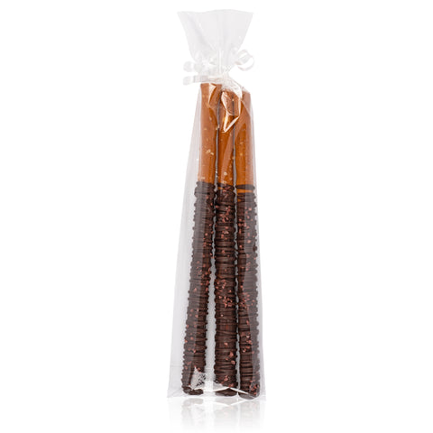 Chocolate Dipped Pretzels with Hawaiian Sea Salt - Pack of 3