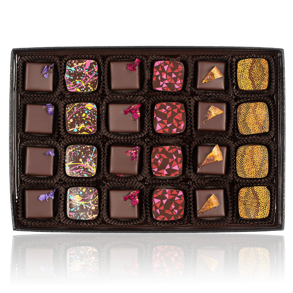 Truffle Collection - Quilted Box - 24pcs. Vegan. Gluten Free. Kosher Parve