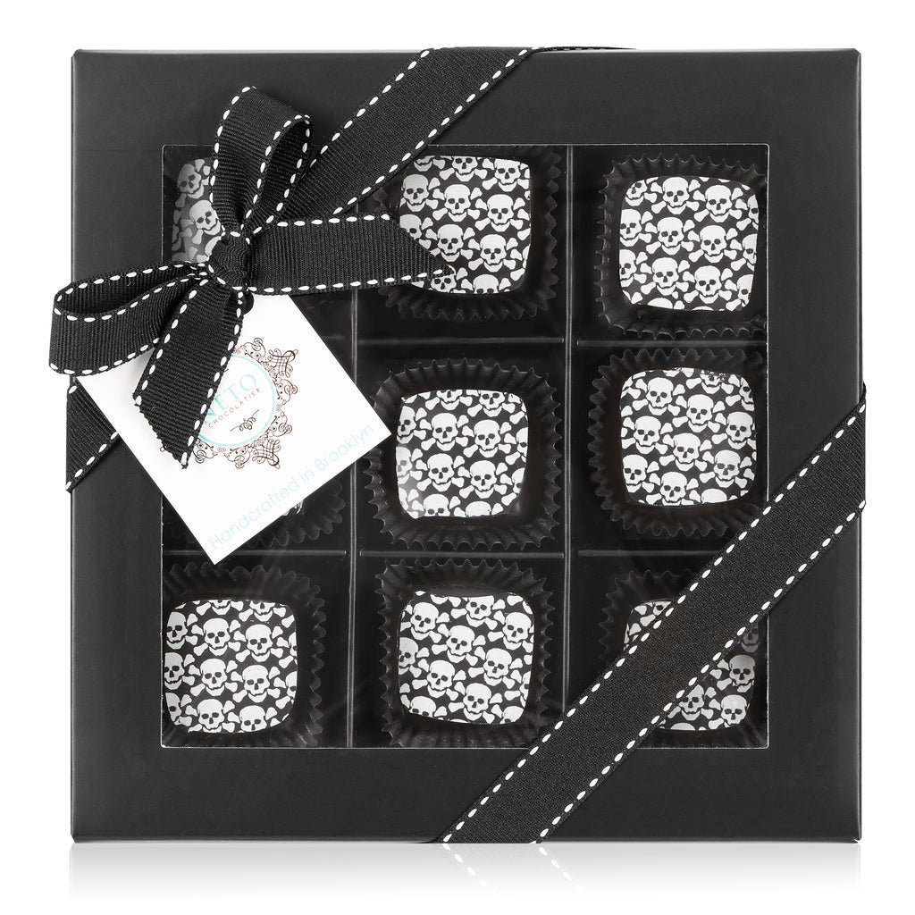 Skulls Black Truffles Box