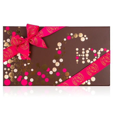 Mother's Day Choc Dots Pink LOVE Gift Box - Vegan. Gluten Free. Kosher Parve.
