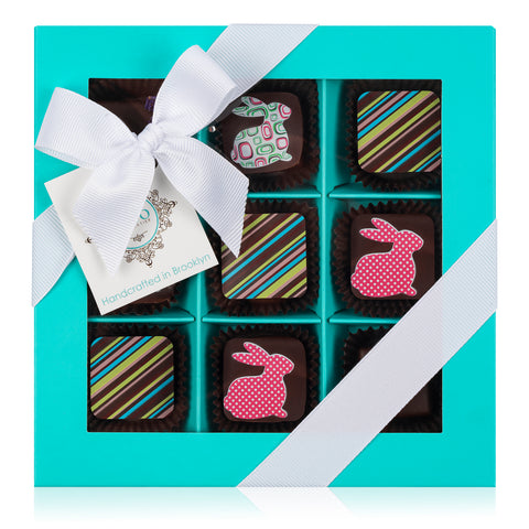Easter Truffles Collection - Aqua Box. 9 PCS